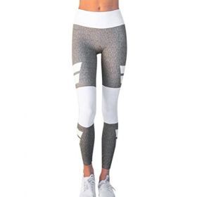 Yoga Hosen Damen, DoraMe Frauen Hohe Taille Sport Hose Studio Yoga Hosen Läuft Fitness Leggings Athletic Hose (S, Grau)