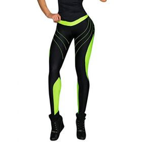 jogginghose damen schwarz sport leggins für damen Workout Stretch High Elastic Yoga Hosen Damen Sport-Hose Leggings leggings damen schwarz jogginghose damen EVA (Grün, S)